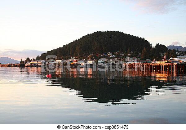 Alaskan Island Sunset - csp0851473