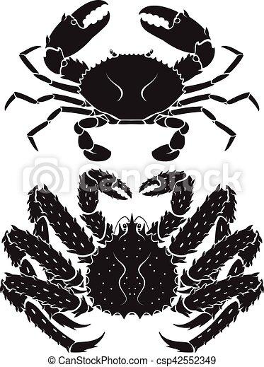 Alaskan king crab. Vector Illustrations. - csp42552349