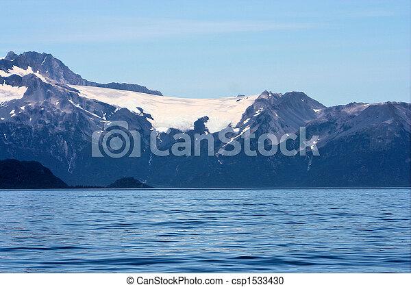Alaskan Sea and Glacier - csp1533430