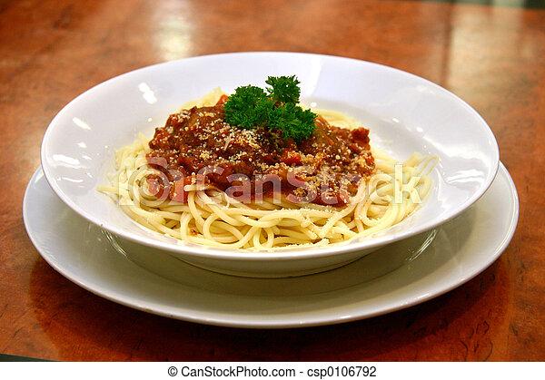 albóndiga, espaguetis - csp0106792