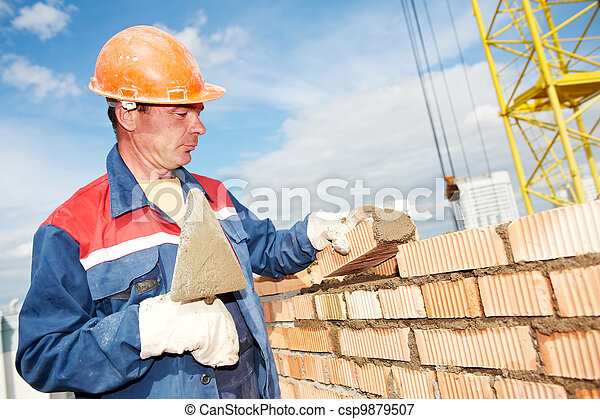 Albañil obrero obrero de construcción - csp9879507