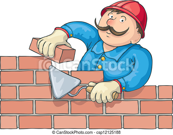 Bricklayer en el trabajo - csp12125188