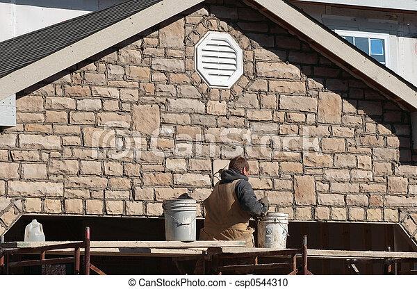 Masonería de construcción - csp0544310