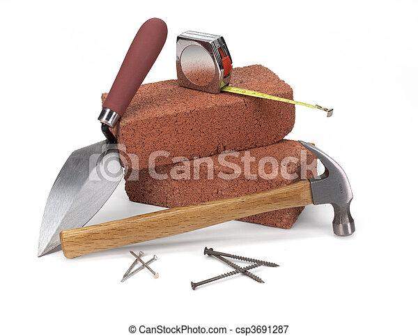 Construcción de masones - csp3691287