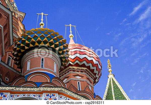 St. Basil catedral. Moscú. Rusia. - csp2916311