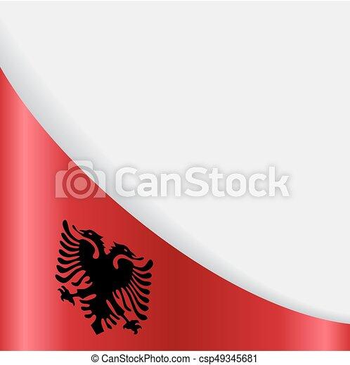 Albanian Flag Background Vector Illustration Albanian Flag - Albanian flag