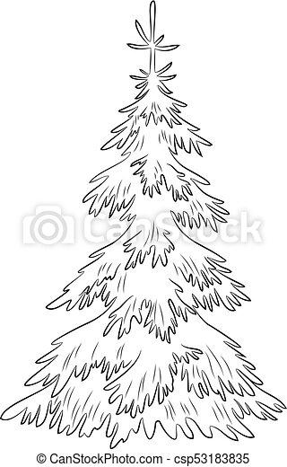Albero Abete Natale Contorni Abete Symbolical Albero Pictogram