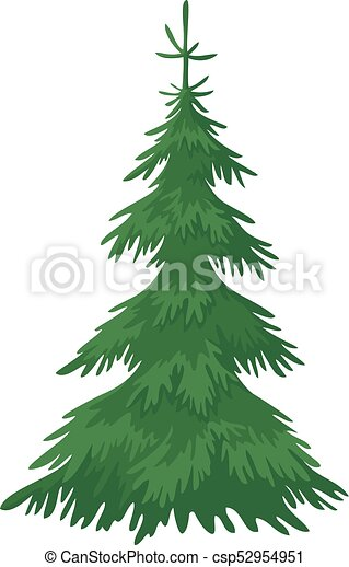 Albero Abete Natale Albero Abete Isolato Fondo Vettore Verde