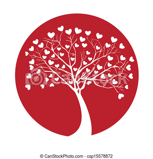 albero, amore - csp15578872