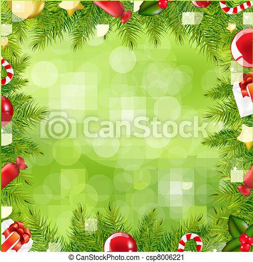 albero, bordo, natale, offuscamento - csp8006221