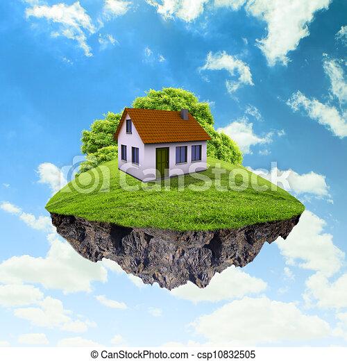 Albero casa terra pezzo aria dettagliato concetto for Aprire i piani casa artigiano concetto