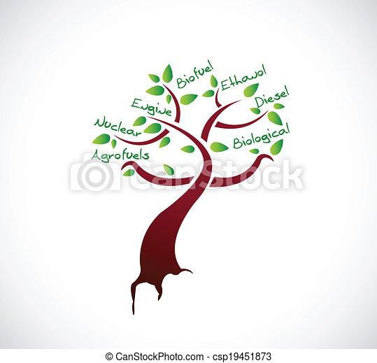 albero, concetto, disegno, biofuels, illustrazione - csp19451873
