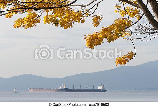 albero, mare, cadere - csp7919503