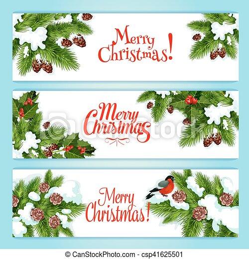 Albero Natale, Disegno, Bacca, Agrifoglio, Bandiera, Natale   Csp41625501
