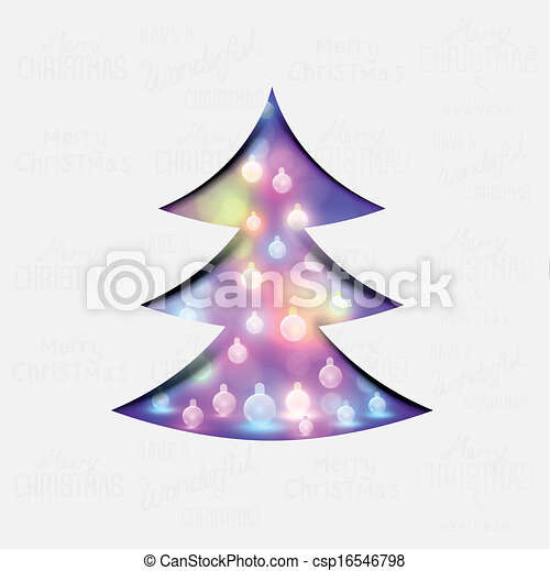 albero, natale, festivo - csp16546798