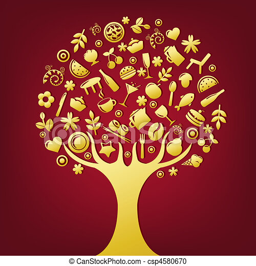 albero, oro - csp4580670