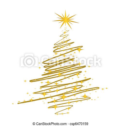 albero, scarabocchio, natale - csp6470159