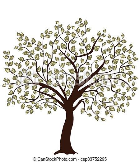 albero, silhouette - csp33752295