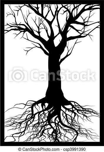 albero, silhouette - csp3991390