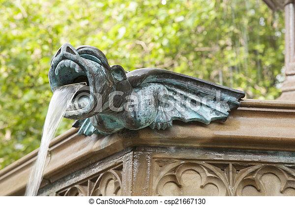Albert Square Fountain, Manchester - csp21667130