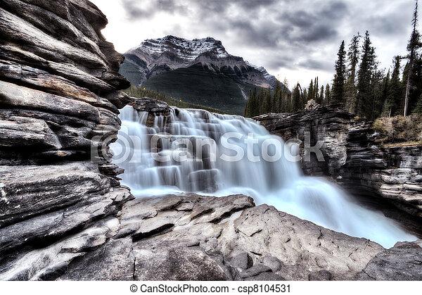 alberta, athabasca, kanada, vízesés - csp8104531