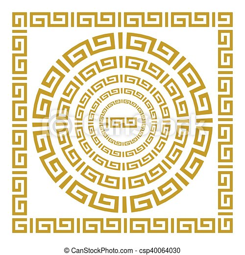 albo, klasyczny, ułożyć, prostokątny, grek, rzymski, wektor, okrągły - csp40064030