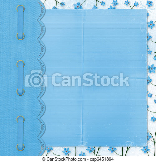 Album for photos on the abstract floral background - csp6451894