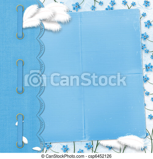Album for photos on the abstract floral background - csp6452126