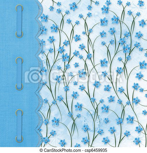 Album for photos on the abstract floral background - csp6459935