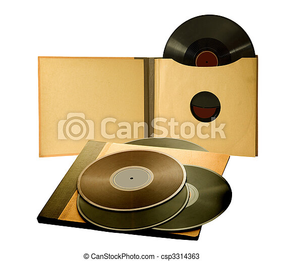 album with old records - csp3314363