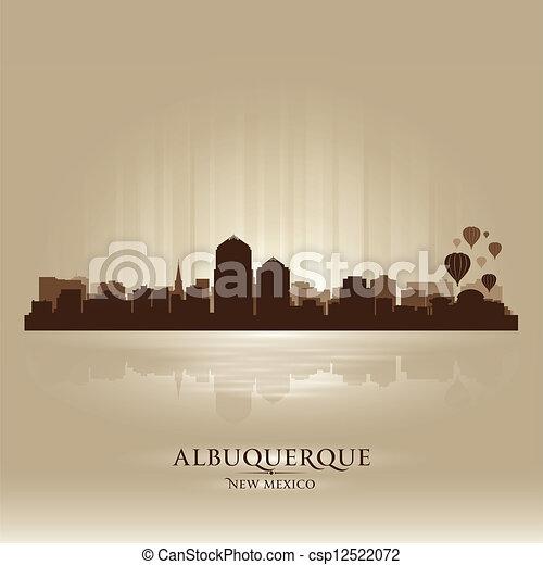 Albuquerque, New Mexico skyline city silhouette - csp12522072