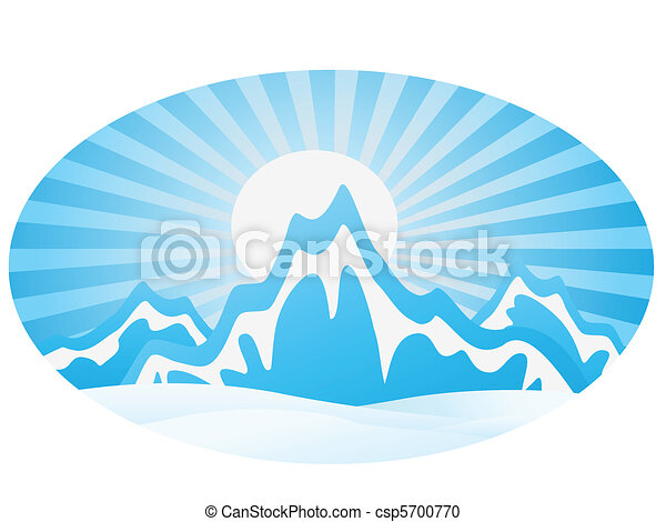 alcance montanha, gelo - csp5700770