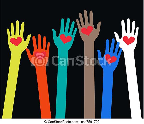 Llegando a manos humanas - csp7591723