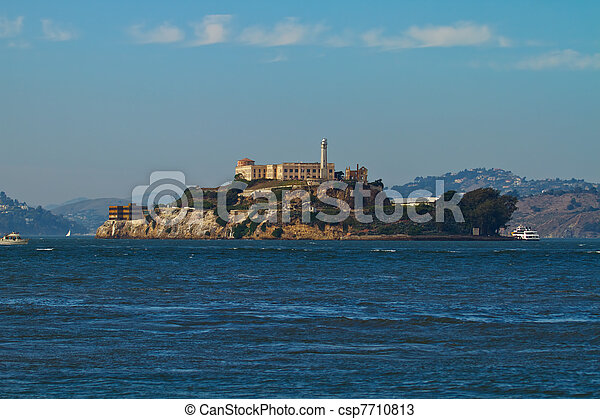 Alcatraz Island in San Francisco Bay - csp7710813