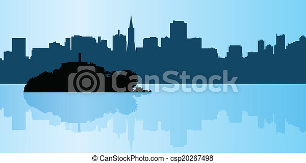 Alcatraz Silhouette - csp20267498