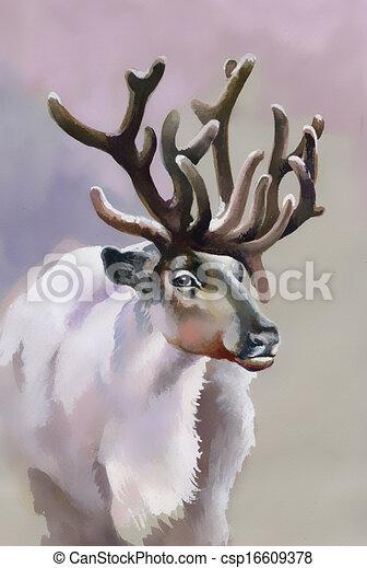 Alce en el bosque invernal - csp16609378