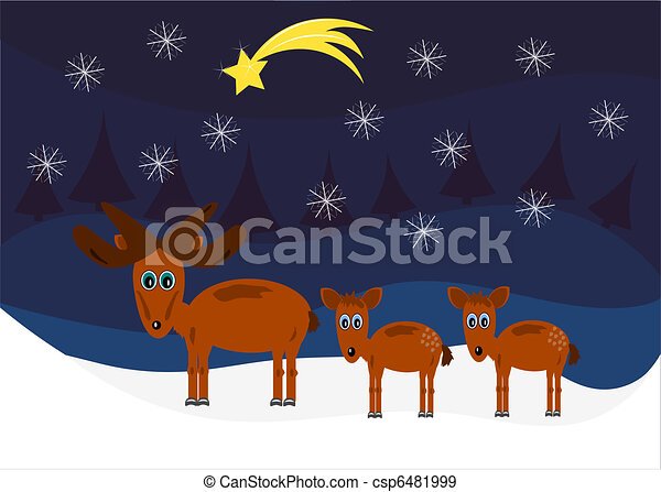 Moose Christmas - csp6481999