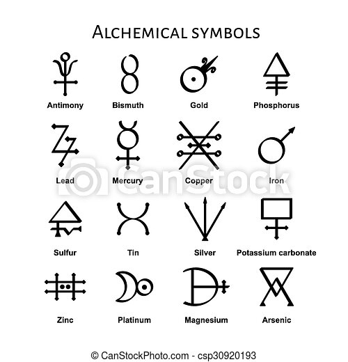 Alchemical Symbols - csp30920193