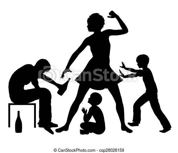 alcohol and domestic violence violent family conflict due stock rh canstockphoto com domestic violence awareness clipart free domestic violence purple ribbon clipart