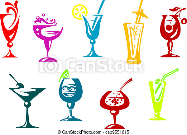 Alcohol and juice cocktails - csp9551615
