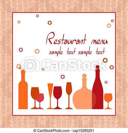 Alcohol bar or restaurant menu - csp15285251