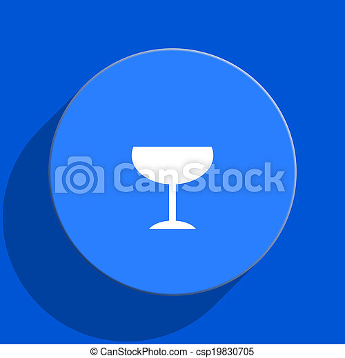 alcohol blue web flat icon - csp19830705