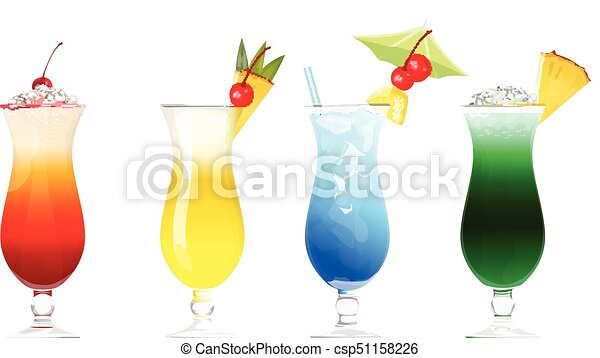 Alcohol Cocktails Set
