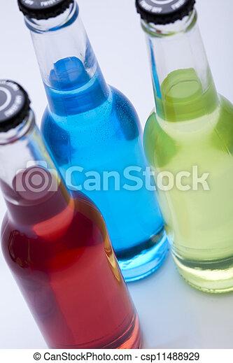 alcohol, conjunto, cócteles, bebidas - csp11488929