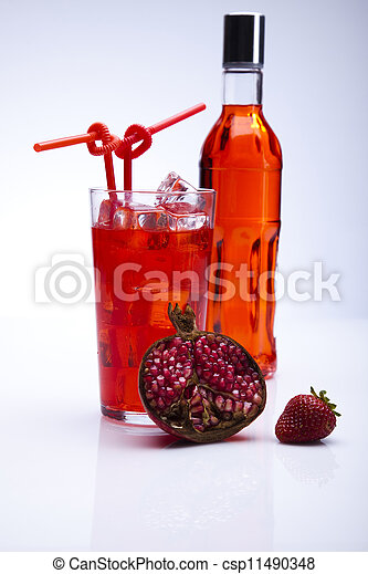 alcohol, conjunto, cócteles, bebidas - csp11490348