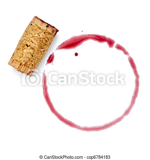 alcohol drink wine stain liquid cork opener - csp6784183