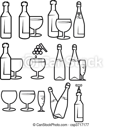 Alcohol drinks - csp3717177