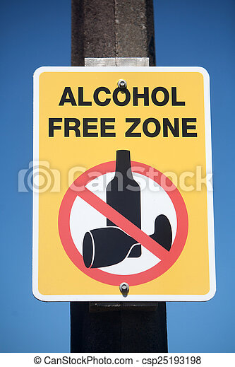 Alcohol Free Zone Sign - csp25193198
