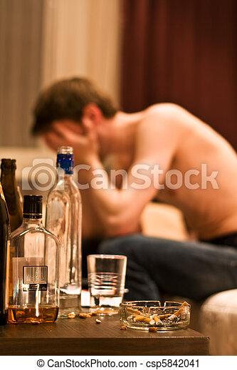 alcohol, hombre - csp5842041