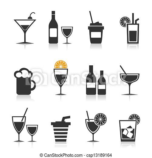 alcohol, icono - csp13189164
